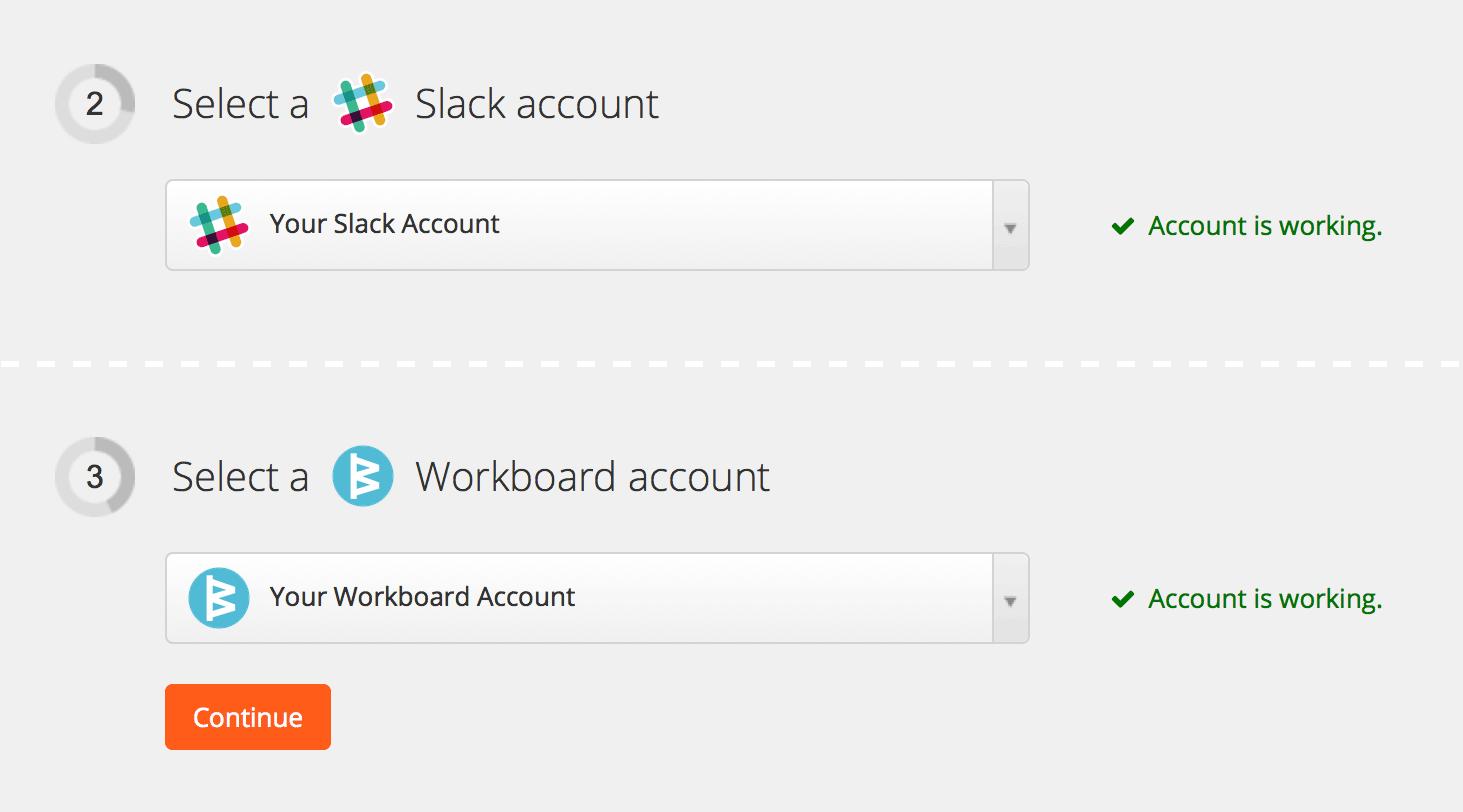 Screenshot: Zapier Integration Setup