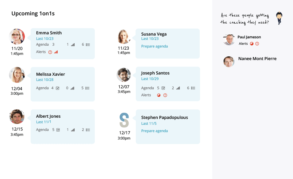 Manage 1on1s with Workboard