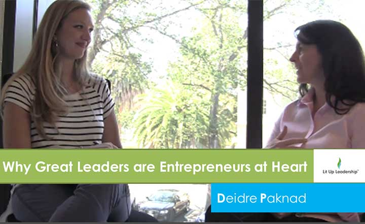 Blog Post: Why Great Leaders are Entrepreneurs at Heart